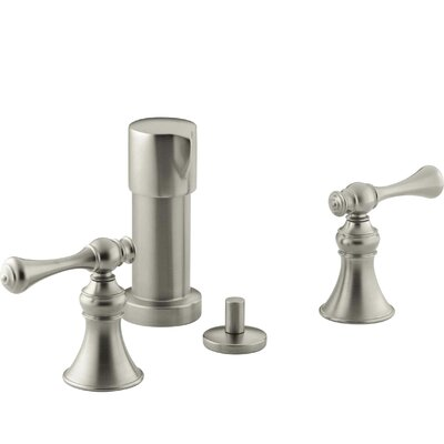 Revival Vertical Spray Bidet Faucet with Traditional Lever Handles Finish: Vibrant Brushed Nickel