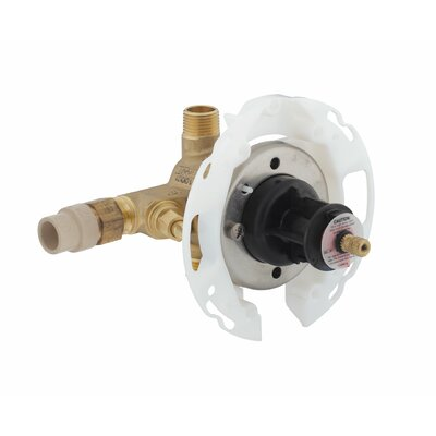 Rite-Temp 1/2 Pressure-Balancing Valve with Screwdriver Stops and Furnished with 1/2 Cpvc Connections