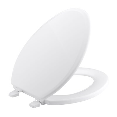 Ridgewood Elongated Toilet Seat Finish: White