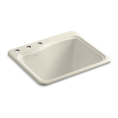 River Falls Metal Rectangular Drop-In Bathroom Sink Finish: Almond, Number of Faucet Holes: 3