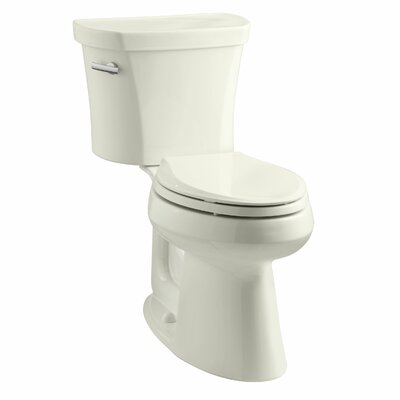 Highline Comfort Height 1.28 GPF Elongated Two-Piece Toilet Finish: Biscuit