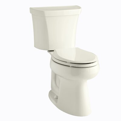 Highline Comfort Height Two-Piece Elongated 1.6 GPF Toilet with Class Five Flush Technology, Right-Hand Trip Lever and Tank Cover Locks Finish: Biscuit