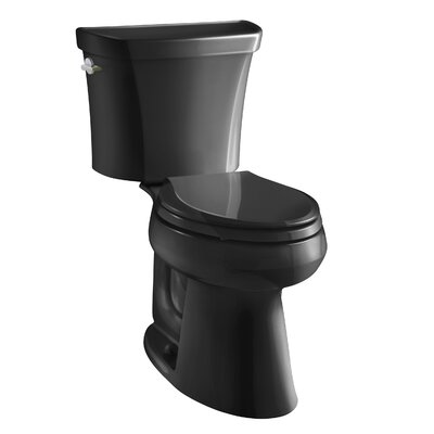 Highline Comfort Height Two-Piece Elongated Dual-Flush Toilet with Class Five Flush Technology and Left-Hand Trip Lever Finish: Black Black