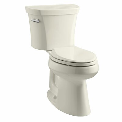 Highline Comfort Height Two-Piece Elongated 1.28 GPF Toilet with Class Five Flush Technology, Left-Hand Trip Lever, Insuliner Tank Liner and Tank Cover Locks Finish: Almond
