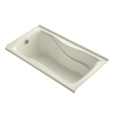 Hourglass Alcove 60 x 32 Soaking Bathtub Finish: Almond