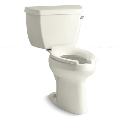 Highline Classic Comfort Height 1.6 GPF Elongated Two-Piece Toilet Finish: Biscuit