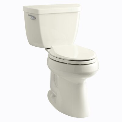 Highline Classic Comfort Height Two-Piece Elongated 1.28 GPF Toilet with Class Five Flush Technology and Left-Hand Trip Lever Finish: Biscuit
