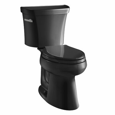 Highline Comfort Height Two-Piece Elongated 1.6 GPF Toilet with Class Five Flush Technology and Left-Hand Trip Lever Finish: Black Black