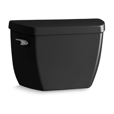 Highline Classic Toilet Tank with Pressure Lite Flushing Technology and Tank Cover Locks Finish: Black Black
