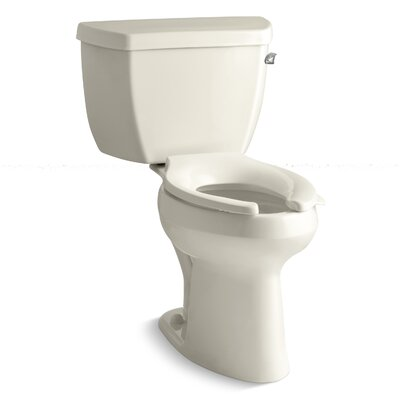 Highline Classic Comfort Height 1.6 GPF Elongated Two-Piece Toilet Finish: Almond