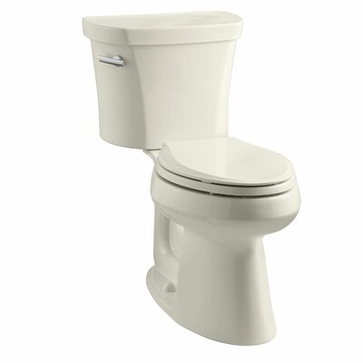 Highline Comfort Height 1.28 GPF Elongated Two-Piece Toilet Finish: Almond