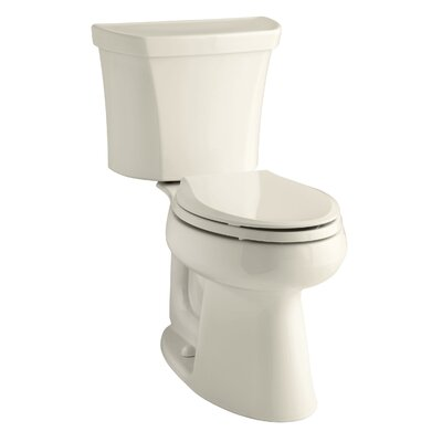 Highline Comfort Height Two-Piece Elongated 1.28 GPF Toilet with Class Five Flush Technology and Right-Hand Trip Lever Finish: Almond