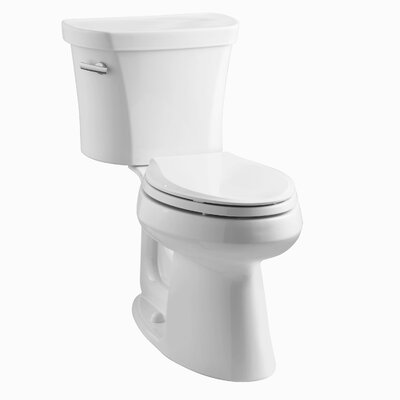 Highline Comfort Height 1.28 GPF Elongated Two-Piece Toilet Finish: White
