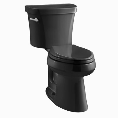 Highline Comfort Height 1.28 GPF Elongated Two-Piece Toilet Finish: Black Black