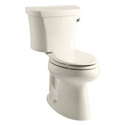 Highline 1.28 GPF Elongated Two-Piece Toilet Finish: Almond