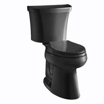 Highline Classic Comfort Height Two-Piece Elongated 1.0 GPF Toilet with Pressure Lite Flushing Technology, Right-Hand Trip Lever and Tank Cover Locks Finish: Black Black