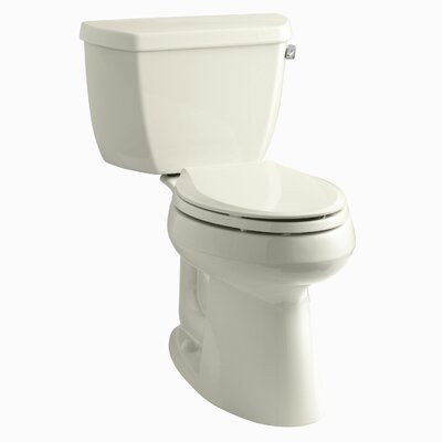 Highline Classic Comfort Height Two-Piece Elongated 1.28 GPF Toilet with Class Five Flush Technology and Right-Hand Trip Lever Finish: Almond