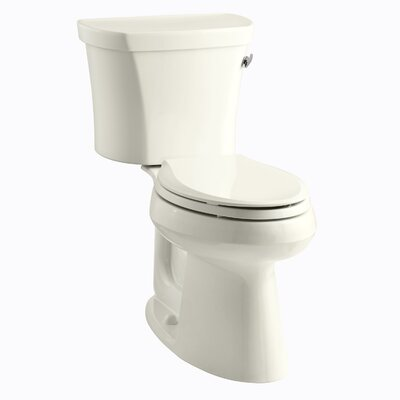 Highline Comfort Height Two-Piece Elongated 1.28 GPF Toilet with Class Five Flush Technology, Right-Hand Trip Lever and Insuliner Tank Liner Finish: Biscuit