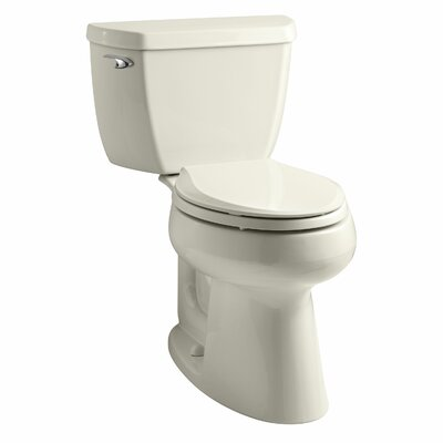 Highline Classic Comfort Height Two-Piece Elongated 1.28 GPF Toilet with Class Five Flush Technology and Left-Hand Trip Lever Finish: Almond