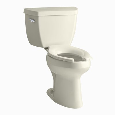 Highline Classic Comfort Height Two-Piece Elongated 1.0 GPF Toilet with Pressure Lite Flushing Technology and Tank Cover Locks Finish: Almond