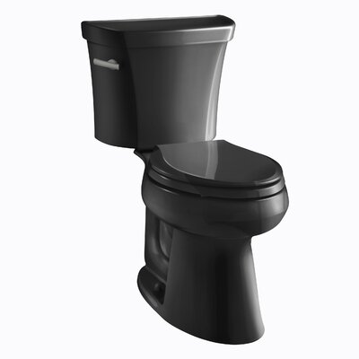 Highline Classic Comfort Height Two-Piece Elongated 1.0 GPF Toilet with Pressure Lite Flushing Technology and Tank Cover Locks Finish: Black Black