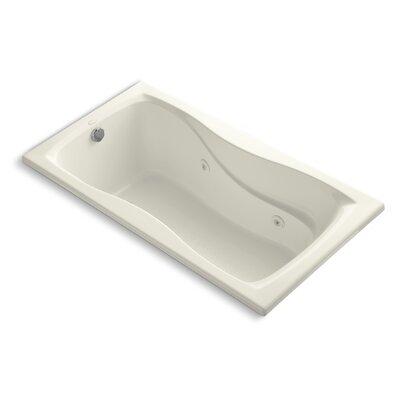 Hourglass 60 x 32 Whirlpool Bathtub Finish: Biscuit