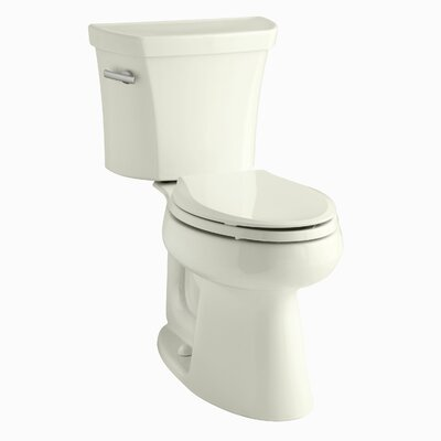 Highline Comfort Height Two-Piece Elongated 1.6 GPF Toilet with Class Five Flush Technology and Left-Hand Trip Lever Finish: Biscuit