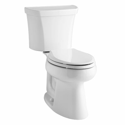 Highline Comfort Height Two-Piece Elongated 1.6 GPF Toilet with Class Five Flush Technology and Right-Hand Trip Lever Finish: White