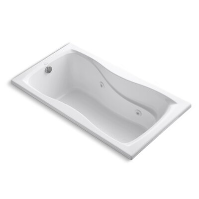 Hourglass 60 x 32 Whirlpool Bathtub Finish: White