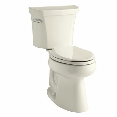 Highline Comfort Height Two-Piece Elongated 1.6 GPF Toilet with Class Five Flush Technology and Left-Hand Trip Lever Finish: Almond