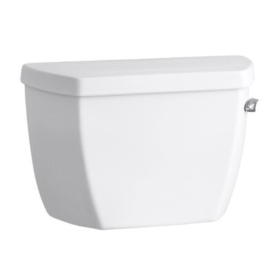 Groove 1.6 GPF Toilet Tank with Pressure Lite Flushing Technology and Right-Hand Trip Lever Finish: White