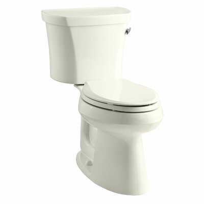 Highline Comfort Height Two-Piece Elongated 1.28 GPF Toilet with Class Five Flush Technology, Right-Hand Trip Lever and Tank Cover Locks Finish: Biscuit