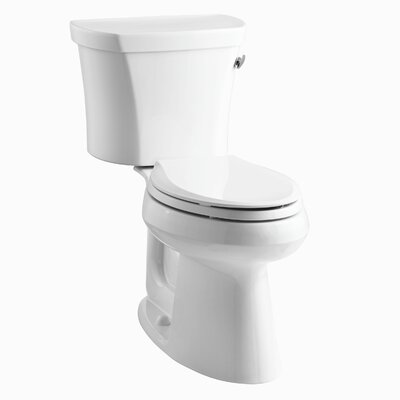 Highline 1.28 GPF Elongated Two-Piece Toilet Finish: White