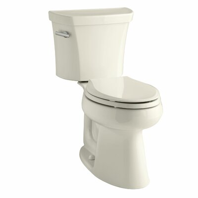 Highline Comfort Height Two-Piece Elongated 1.6 GPF Toilet with Class Five Flush Technology, Left-Hand Trip Lever and Tank Cover Locks Finish: Almond