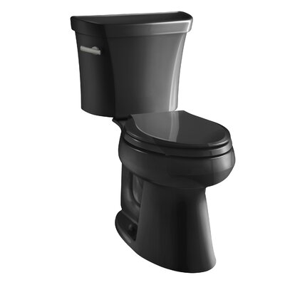 Highline Comfort Height Two-Piece Elongated 1.6 GPF Toilet with Class Five Flush Technology, Left-Hand Trip Lever and Tank Cover Locks Finish: Black Black