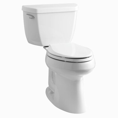 Highline Classic Comfort Height Two-Piece Elongated 1.28 GPF Toilet with Class Five Flush Technology and Left-Hand Trip Lever Finish: White