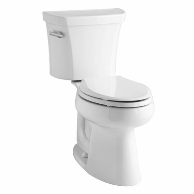Highline Comfort Height Two-Piece Elongated 1.6 GPF Toilet with Class Five Flush Technology, Left-Hand Trip Lever and Tank Cover Locks Finish: White