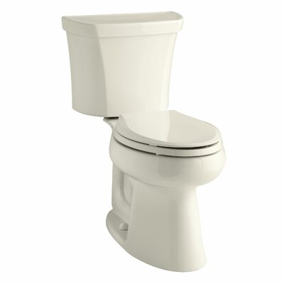 Highline Comfort Height Two-Piece Elongated 1.6 GPF Toilet with Class Five Flush Technology, Right-Hand Trip Lever and Tank Cover Locks Finish: Almond