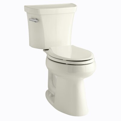 Highline Comfort Height Two-Piece Elongated 1.28 GPF Toilet with Class Five Flush Technology and Left-Hand Trip Lever Finish: Biscuit