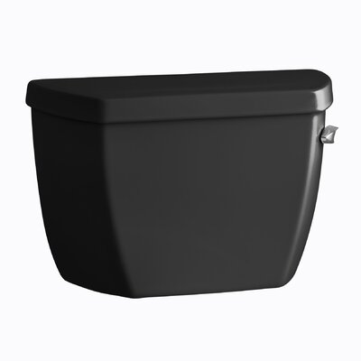 Highline Classic 1.6 GPF Toilet Tank with Pressure Lite Flushing Technology, Tank Cover Locks and Right-Hand Trip Lever Finish: Black Black