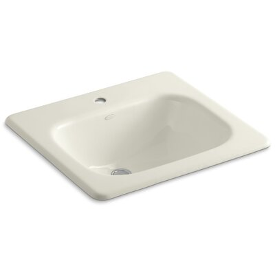 Tahoe Self Rimming Bathroom Sink Finish: Biscuit