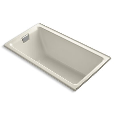 Tea-For-Two Alcove 66 x 36 Soaking Bathtub Finish: Almond