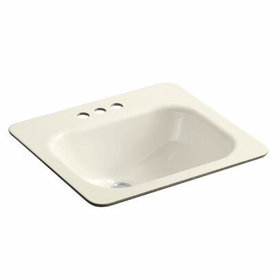 Tahoe Metal Rectangular Drop-In Bathroom Sink with Overflow Sink Finish: Almond