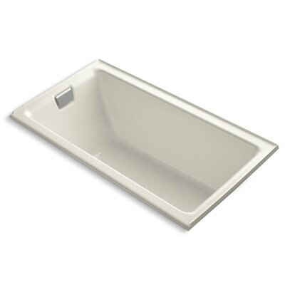 Tea-For-Two Alcove 66 x 36 Soaking Bathtub Finish: Biscuit