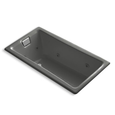 Tea-For-Two 60 x 32 Whirlpool Bathtub Finish: Thunder Grey