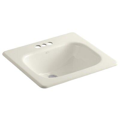 Tahoe Metal Rectangular Drop-In Bathroom Sink with Overflow Finish: Biscuit