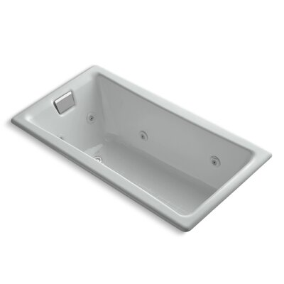 Tea-For-Two 60 x 32 Whirlpool Bathtub Finish: Ice Grey