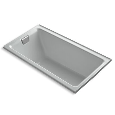 Tea-For-Two Alcove 66 x 36 Soaking Bathtub Finish: Ice Grey