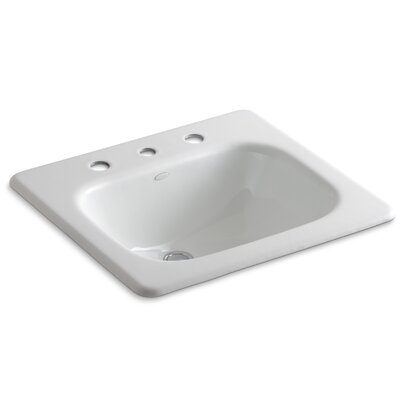 Tahoe Metal Rectangular Drop-In Bathroom Sink with Overflow Finish: White