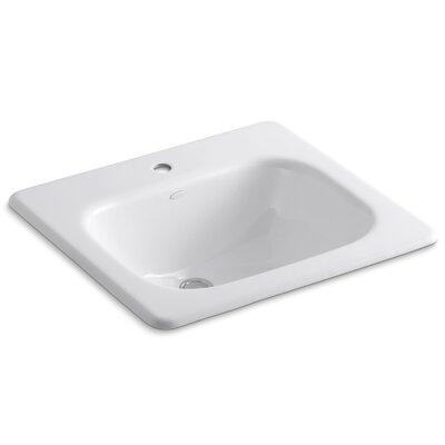 Tahoe Self Rimming Bathroom Sink Finish: White